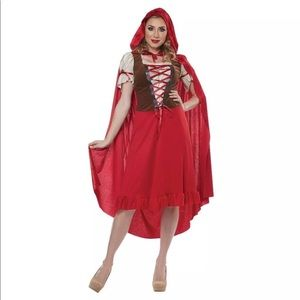 Red Riding Hood Women Halloween Costume Sz Large